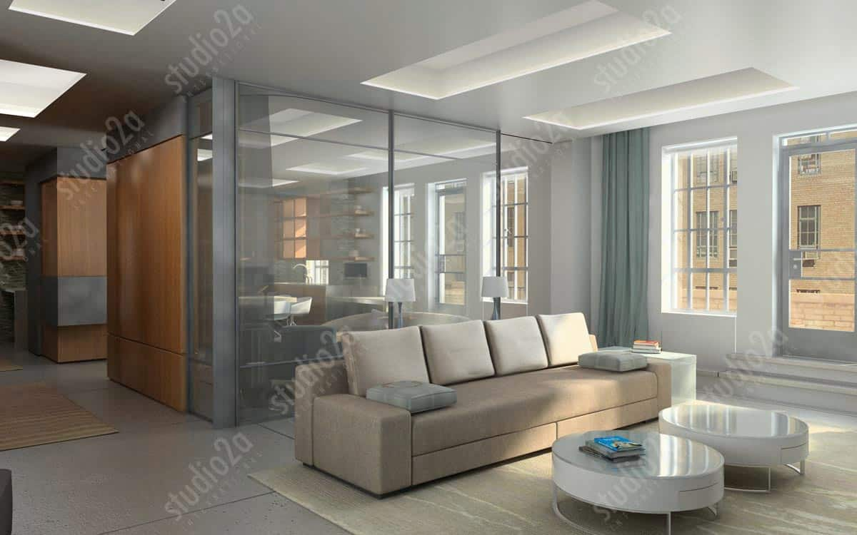 Penthouse Interior | Architectural Renderings, Animation ...